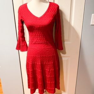 Liz Claiborne career sweater dress bell sleeve